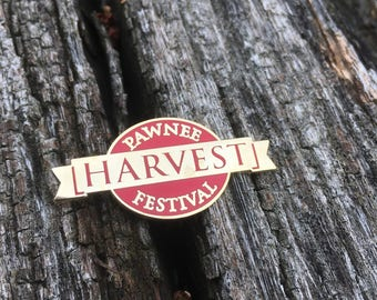 Commemorative Pawnee Harvest Festival pin, parks and recreation pin, harvest festival pin
