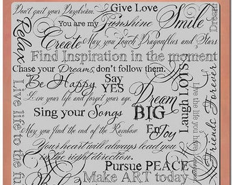 Word Stamp, Dream, Stampendous, Rubber Stamp, Background Stamp