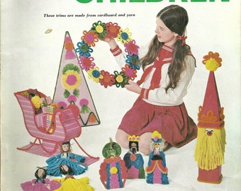 Woman's Day Christmas Ideas for Children, Woman's Day Magazine 1969, Christmas Crafts for Children, Christmas Decorations and Gift Crafts