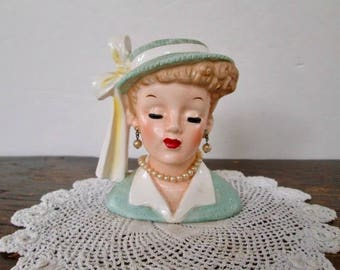 """Sale 1958 Napco """"Lucille Ball"""" Head Vase"""
