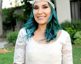 Silver Bridal Headband, Crystal Headband, Hair Jewelry, Wedding Hair Piece, Bridal Headpiece, Wedding Headpiece, Hair Acessories
