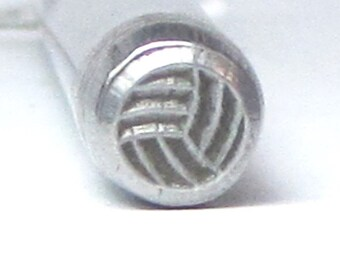VollyBall steel design stamping for team sport jewelry 5mm