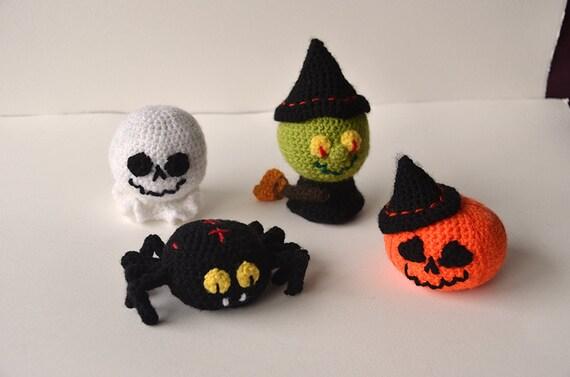 Halloween Amigurumi Crochet Pattern : Halloween crochet pattern set witch crochet pattern pumpkin