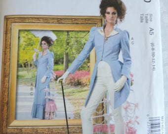 McCall's M7140 Size 6-14 Misses Steampunk Costume Jacket and Pants Sewing Pattern / Uncut/FF