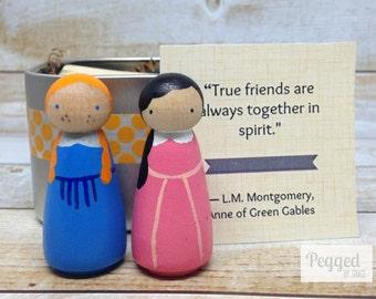 Anne of Green Gables Peg Doll Set Gift Tin