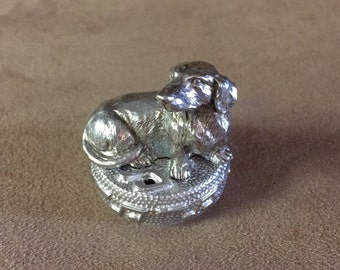 Musical Pewter Dachshund Dog. You Can Choose Your Musical Tunes From The Options Below. Made In Texas