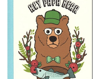 Hey Papa Bear Card
