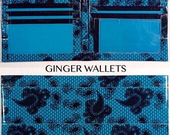 Blue Lace Duct Tape Bi-Fold Wallet