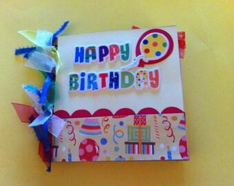 Birthday scrapbook premade birthday gift birthday album
