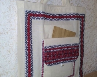 Reusable shopping bag Ukrainian bag Folding shopping bag Eco bag Fold-up Tote Bag Beach bag Market Bag Grocery Bag Cotton bag