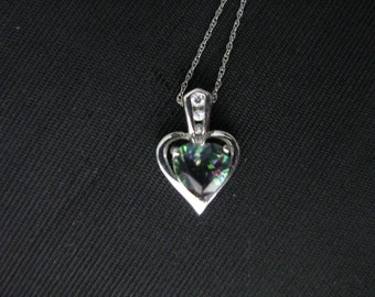 Small Heart Necklace Pendant, Gift under 40, Sterling Silver small heart necklace