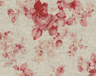 Durham Roses - Taupe 31468-30 by Lecien Linen/Cotton Fabric Yardage