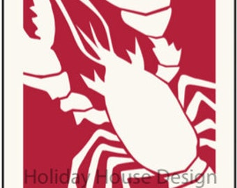 Big Lobster- iconic Maine wall art by Holiday House Design