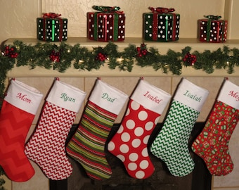 CHRISTMAS STOCKINGS *  Unique Designer Stockings * All Christmas Stockings Include Personalized Embroidery * Christmas Gifts