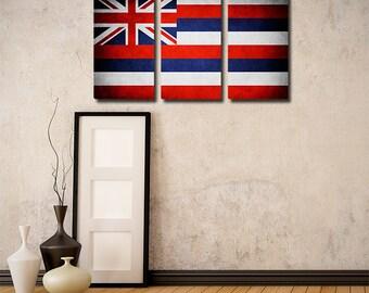 Hawaii Flag Triptych (w/ Free Shipping!)