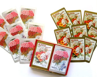D.M. Vintage magnifique Ferry & Co., 8 cartes Floral