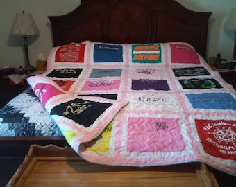 Double sided T-shirt quilt