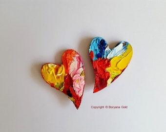 2 HEARTS, fridge magnets by Boryana Gold