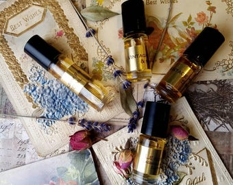 Le Bon Botanical Perfume Oil with Jasmine, Amber, Rose, Saffron and Pine. 5 ML