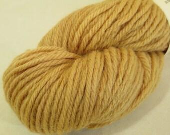Natural Dye Wool Yarn - Hops Leaf Gold - Plant-Dyed Tonal Bulky Peruvian Highland Wool - YABU111615 - 100 grams