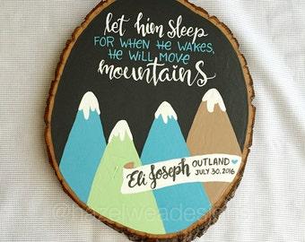 Let Them Sleep - Custom Handlettered Wood Round