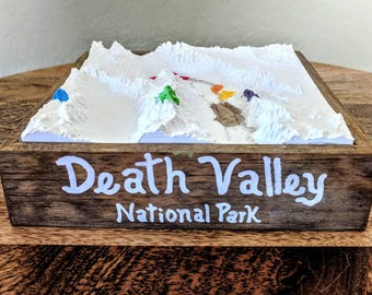 Death Valley National Park - 3D Printed Topographical Landscape 6 x 6 model