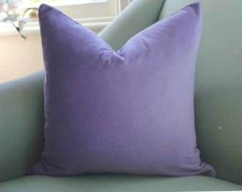Lavender Velvet Pillow Cover