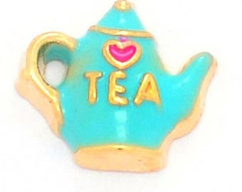 Tea Pot Floating Charm for Glass Memory Locket FC1 - 1 Charm