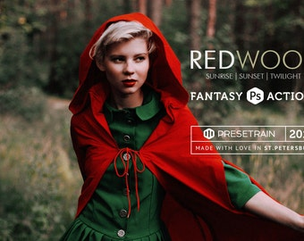 Redwood Photoshop Actions - 3 fantasy toning actions for creative portrait & fine art - Adobe Photoshop CS4, CS5, CS6, CC 2014, CC 2015