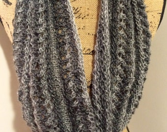 Lacy Shades of Grey Cowl/ Infinity Scarf