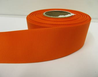 Grosgrain Ribbon 3mm 6mm 10mm 16mm 22mm 38mm 50mm Rolls, Pumpkin, Dark Orange, 2, 10, 20 or 50 metres, Ribbed Double sided,