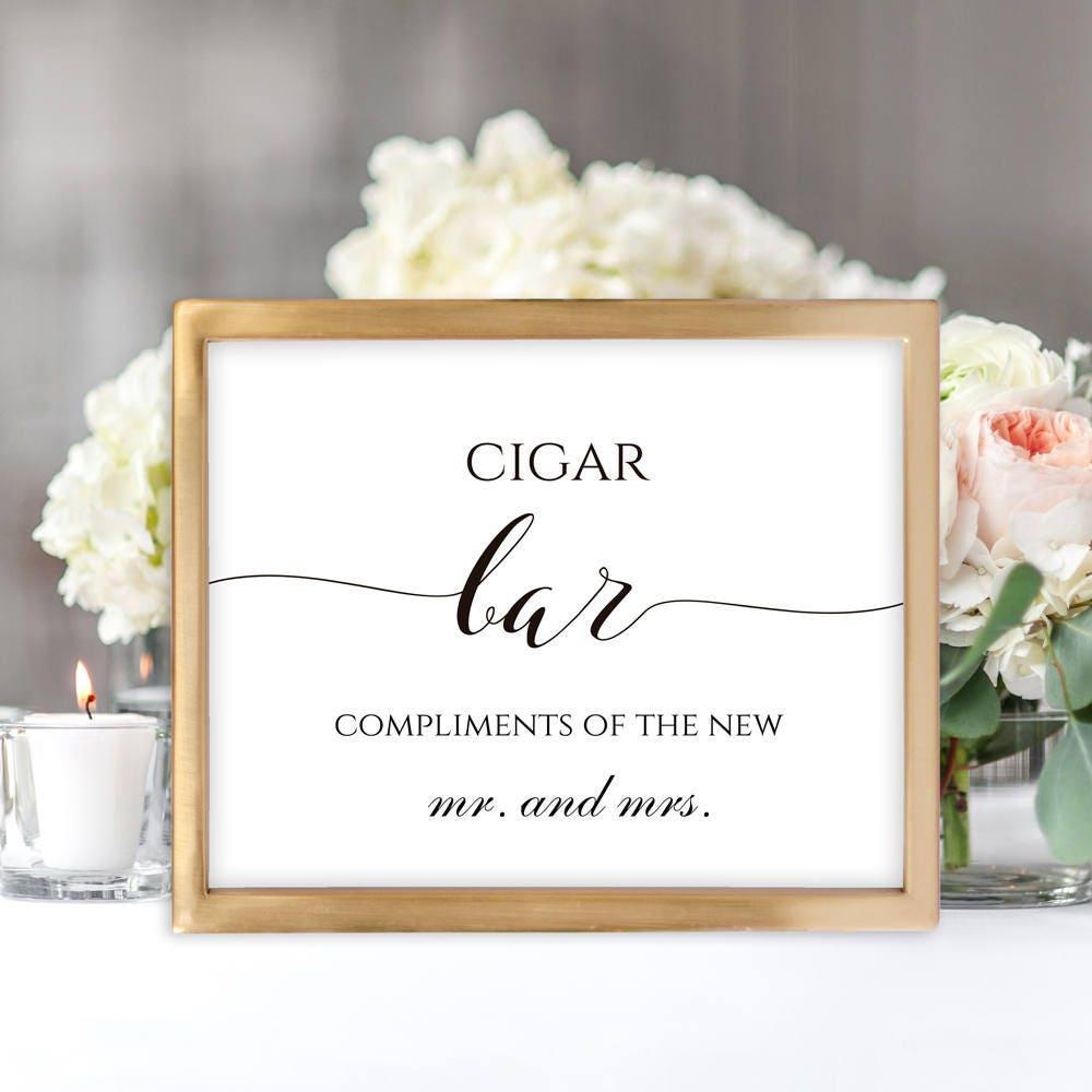 Cigar Bar Sign Wedding Cigar Printable Bar Sign Wedding Bar