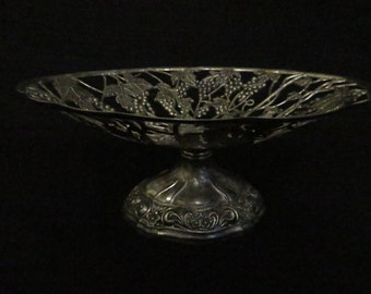 Silver Plated Grapevine Fruit Tray/Centerpiece