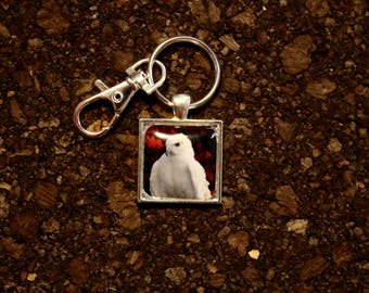 "Red Tailed Hawk ""Grace"" Key Fob"