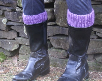 Plus Size Boot Cuffs, Made to Fit Boot Toppers, Womens Boot Cuffs XL- Knitted Boot Cuffs- Faux Leg Warmers- Large Boot Socks Plus
