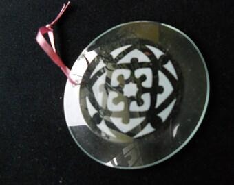 Snowflake (celtic) - sandblasted glass ornament