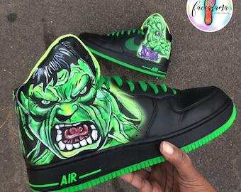 Custom Incredible Hulk shoes