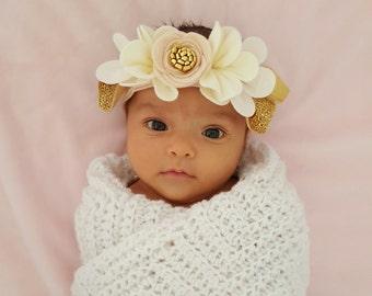 BALLET PINK OMBRE // felt flower pixie crown headband // felt flower accessories for a whimsical childhood