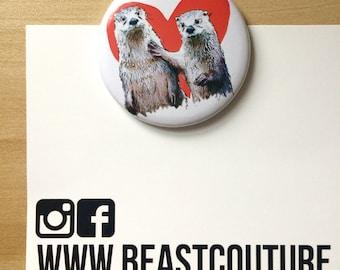 Whole Otter Love Fridge Magnet