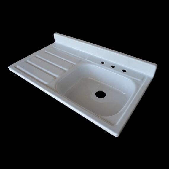Used Kitchen Sink: 42 X 24 Single Bowl Drainboard Farmhouse Sink