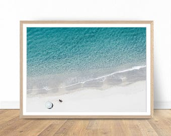 Lonely Beach Photography, Digital Download, Beach Art, Beach Print, Ocean Print, Modern Poster, Holiday Poster, Beach Wall Decor