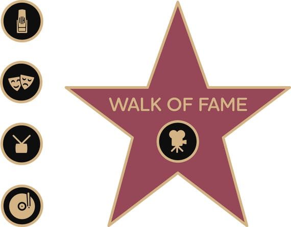 walk of fame star walk of fame svg walk of fame clipart