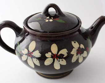 Canadian Art Pottery Redware Teapot