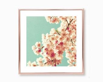 Large wall art, cherry blossom art, framed wall art, blush pink wall art, wall art canvas, spring decor, canvas art, flower photography