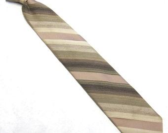 Brown Tan Clip On Necktie Clipon Tie Damon