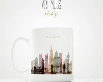 London Skyline Mug - ArtPrintsVicky.com
