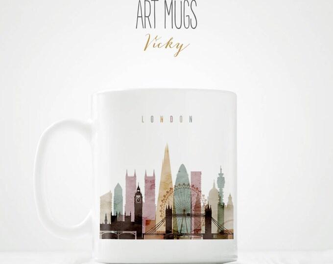 London Skyline Mug - ArtPrintsVicky.com