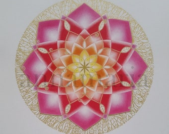 "Mandala ""Lotus with Crown"""