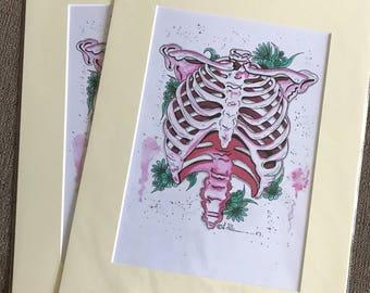 Artwork print - Ribcage