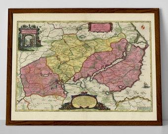 Old Map of Schleswig-Flensburg | Historical German Map – Silberstedt, Schuby, Schleswig, Rieseby, Waabs, Dörphof, Kappeln, Böklund, Fleckby